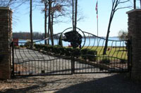 Even the gate is spectacular at Bear Creek Lodge - Another spectacular Luxury Lakefront SkyBlue Vacation Property