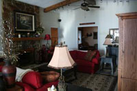 The living area at Bear Creek Lodge - Another spectacular Luxury Lakefront SkyBlue Vacation Property