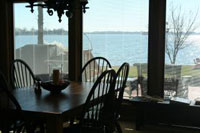 The dining area at Bear Creek Lodge - Another spectacular Luxury Lakefront SkyBlue Vacation Property